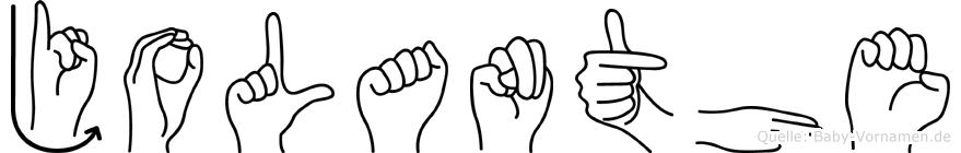 Jolanthe in Fingersprache für Gehörlose