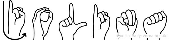 Jolina in Fingersprache für Gehörlose