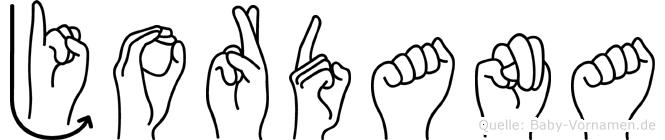 Jordana im Fingeralphabet der Deutschen Gebärdensprache