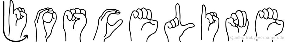 Josceline im Fingeralphabet der Deutschen Gebärdensprache