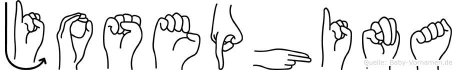 Josephina in Fingersprache für Gehörlose