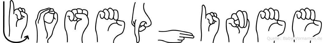 Josephinee in Fingersprache für Gehörlose