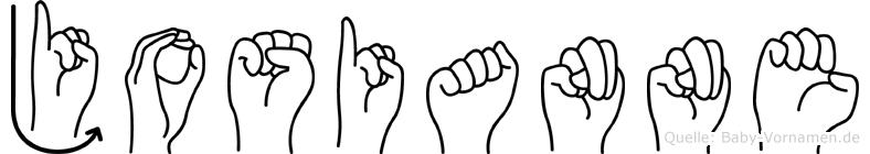 Josianne in Fingersprache für Gehörlose