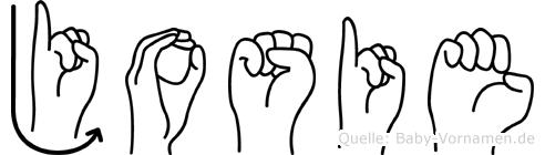 Josie im Fingeralphabet der Deutschen Gebärdensprache