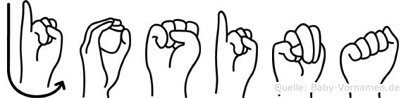 Josina im Fingeralphabet der Deutschen Gebärdensprache