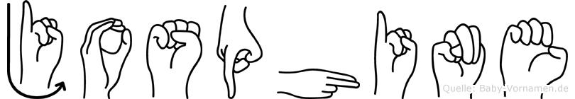 Josphine im Fingeralphabet der Deutschen Gebärdensprache