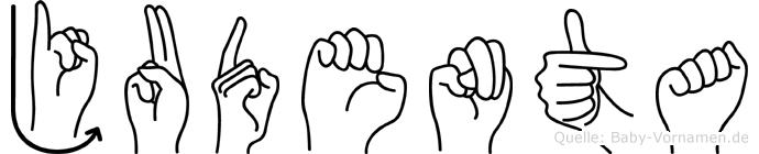 Judenta in Fingersprache für Gehörlose