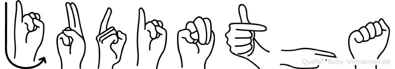 Judintha in Fingersprache für Gehörlose