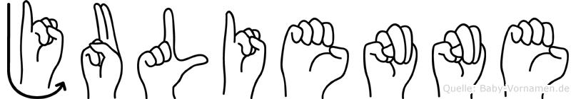 Julienne in Fingersprache für Gehörlose