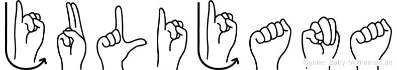 Julijana in Fingersprache für Gehörlose
