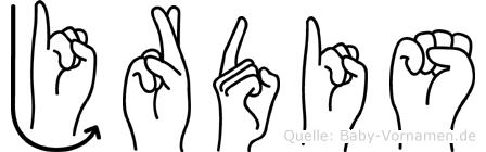 Jördis in Fingersprache für Gehörlose