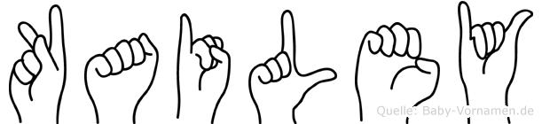 Kailey in Fingersprache für Gehörlose