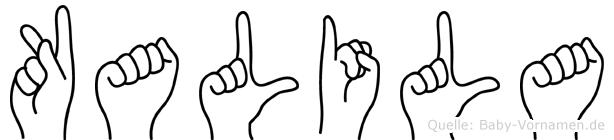 Kalila in Fingersprache für Gehörlose