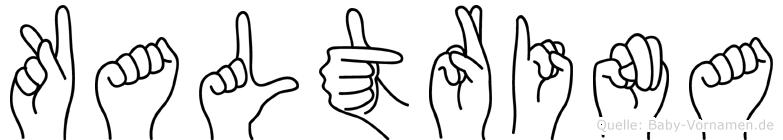 Kaltrina in Fingersprache für Gehörlose