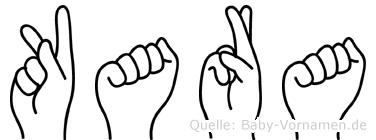 Kara im Fingeralphabet der Deutschen Gebärdensprache