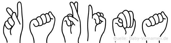 Karima in Fingersprache für Gehörlose