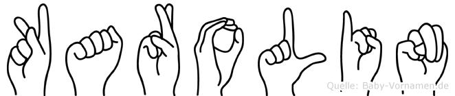Karolin im Fingeralphabet der Deutschen Gebärdensprache