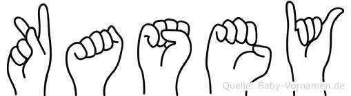 Kasey im Fingeralphabet der Deutschen Gebärdensprache