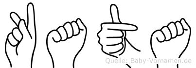Kata im Fingeralphabet der Deutschen Gebärdensprache