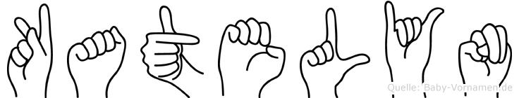 Katelyn im Fingeralphabet der Deutschen Gebärdensprache