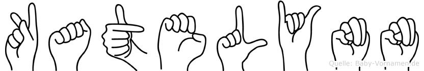 Katelynn im Fingeralphabet der Deutschen Gebärdensprache