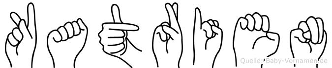 Katrien im Fingeralphabet der Deutschen Gebärdensprache