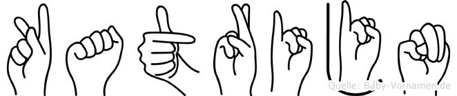 Katrijn im Fingeralphabet der Deutschen Gebärdensprache