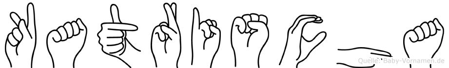 Katrischa im Fingeralphabet der Deutschen Gebärdensprache