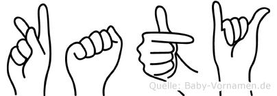 Katy in Fingersprache für Gehörlose