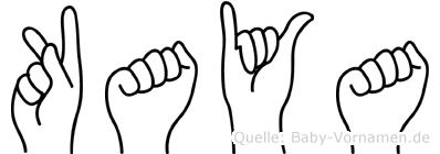 Kaya in Fingersprache für Gehörlose