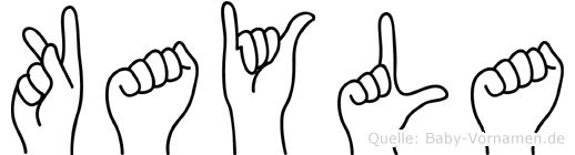 Kayla im Fingeralphabet der Deutschen Gebärdensprache