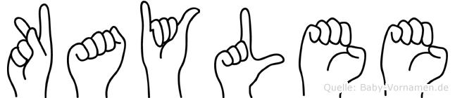 Kaylee im Fingeralphabet der Deutschen Gebärdensprache