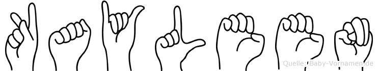 Kayleen in Fingersprache für Gehörlose