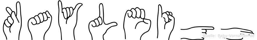 Kayleigh in Fingersprache für Gehörlose