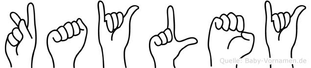 Kayley im Fingeralphabet der Deutschen Gebärdensprache