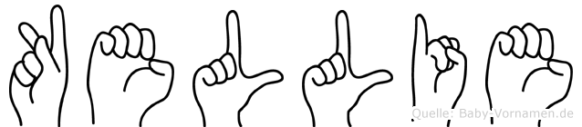 Kellie im Fingeralphabet der Deutschen Gebärdensprache