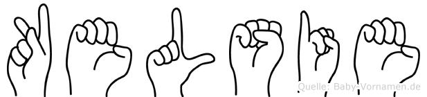 Kelsie im Fingeralphabet der Deutschen Gebärdensprache