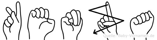 Kenza im Fingeralphabet der Deutschen Gebärdensprache