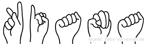 Kiana in Fingersprache für Gehörlose