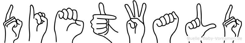 Dietwald im Fingeralphabet der Deutschen Gebärdensprache