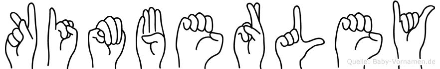 Kimberley in Fingersprache für Gehörlose