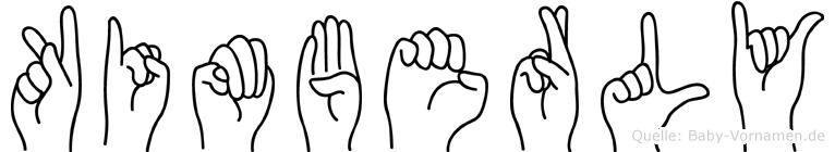 Kimberly in Fingersprache für Gehörlose