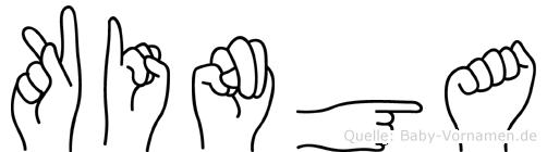 Kinga im Fingeralphabet der Deutschen Gebärdensprache