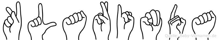 Klarinda in Fingersprache für Gehörlose