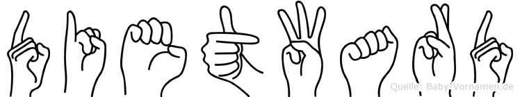 Dietward in Fingersprache für Gehörlose
