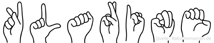 Klarine in Fingersprache für Gehörlose