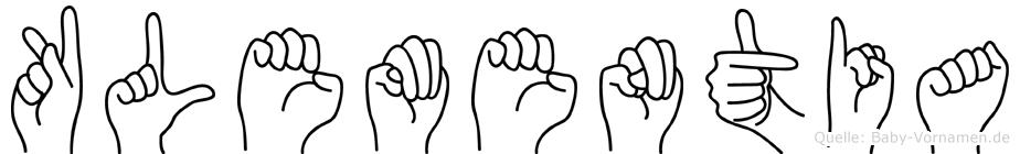 Klementia in Fingersprache für Gehörlose