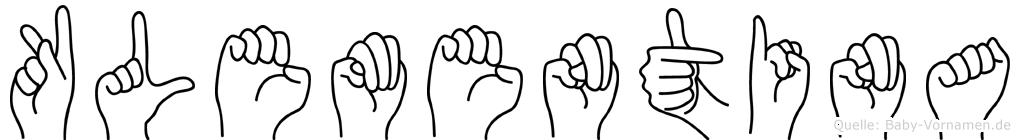 Klementina in Fingersprache für Gehörlose