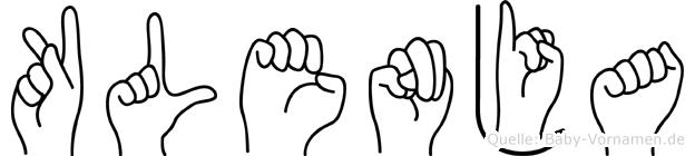 Klenja in Fingersprache für Gehörlose
