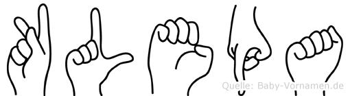 Klepa in Fingersprache für Gehörlose